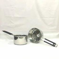 Stainless Steel Metallic Grey Tea Pan
