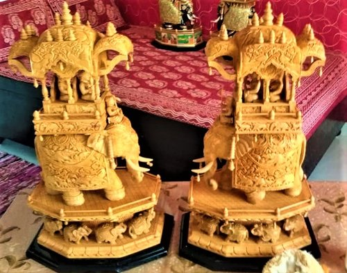 Wooden Carved Ambabari Elephant