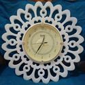 Sunflower Marble Clock