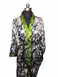 Silk Kimono, Short Vintage Silk Sari Bathrobes, Bridesmaid Robe, Bridal Nightgown