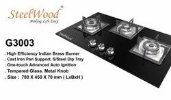 SteelWood Stainless Steel Built In Hob/ Cook top, Size: 780 X 450 X 70 (lxwxh), Model Name/Number: SW-G3003