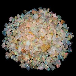 Ethiopian Opal Plain Polished Chips Nuggets Raw Gemstone