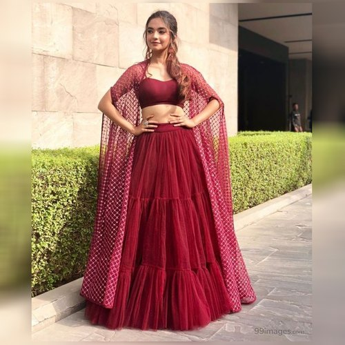 Maroon Colored Designer Wedding Wear Lehenga Choli, Age: 15-28, | ID:  21895869062