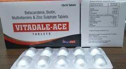 VIT.A, Vit.C, Vit.E, Betacarotene, Zinc Sulphate, Selenium Dioxide & Biotin Tablets