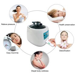 Remote Control Sauna Steamer Herbal Steam Pot with Timer Temperature Display