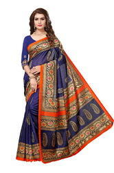 Fancy Foil Printed Bhagalpuri Silk SarEE