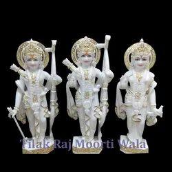 Marble White Ram Lakshman Sita Statue