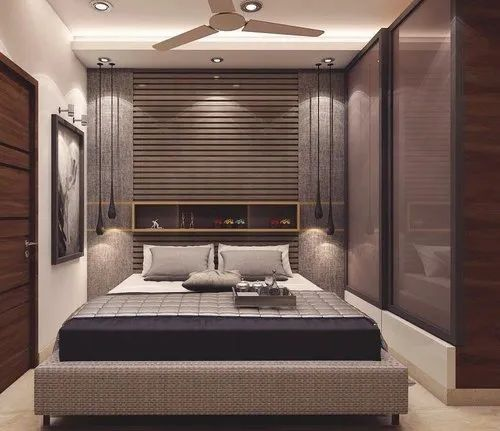 Small Luxury Bed Room Interior Designing Services In Sector 17
