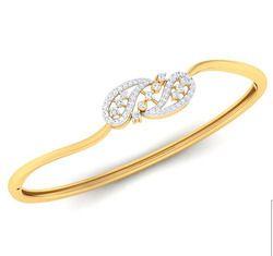 Ladies Real Diamond Bracelet, Packaging Type: Box