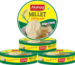 AKSHAA Indian MILLETS APPALM, Organic