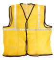 Reflective Vizwear Vests / Jackets 1 Yellow Front Opening In Mesh Fabric