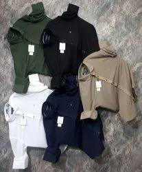 Full Sleeves Slim Fit Mens Plain Hosiery Imported Mercirized Shirts