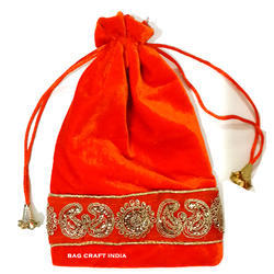 Bag Craft India Assorted Color Drawstring Potli Gift Bag