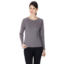 Full Sleeve Grey Ladies Top