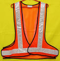 Reflective Vizwear Vest / Jacket 2 Orange 3 Side Opening Mesh Fabric (v-39)