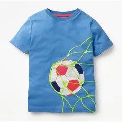 Lycra Cotton Round Kids Sports T Shirt
