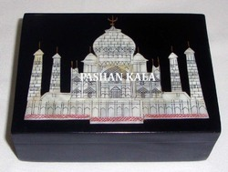 Black Marble Taj Mahal Box