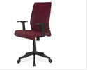 Nil Kamal Thames Fabric Mid Back Chair Maroon
