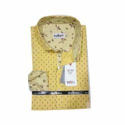 Men's Cotton Stylish Dotted Shirt, Size: 38.0-42.0