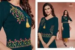 Baanvi Launch Hazel Rayon Exclusive Designer Kurti
