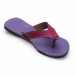 Purple Women Design V-Shape Flat Chappal 340