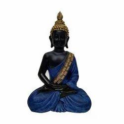 Black and Blue Sitting Buddha Statue