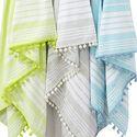 Fouta Towels with Pom Poms