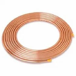 Round Mumbai Copper Pipe, Thickness: .03 Inch, for Air Condition