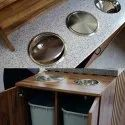 304 Stainless Steel Counter Top Circular Waste Chute