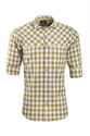 Printed And Striped Semi-formal And Casual Mustard Colour Shirt