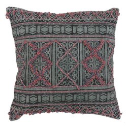 Printed Embroidered Square Cushion Cover