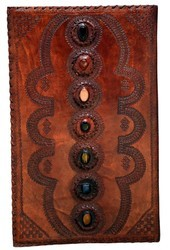 Leather Embossed Stone Journal