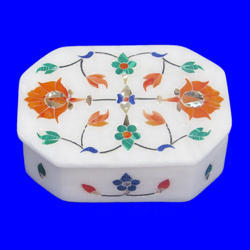 Marble Inlay Pietra Dura Box