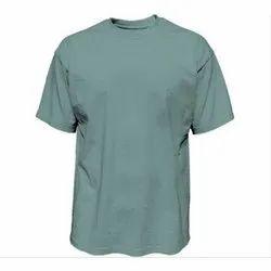 Cotton Plain Mens Round Neck T Shirt, Size: S to XL