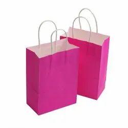 Pink Plain Kraft Paper Bag, Capacity: 5kg