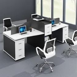 Perfect Furniture Pre-Laminated Particle Board Wooden Office Workstation