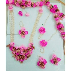 Artificial Pink Flower Jewellery