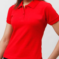 LACKS Red Ladies Corporate T-Shirt