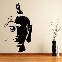 Buddha Face Wall Decal