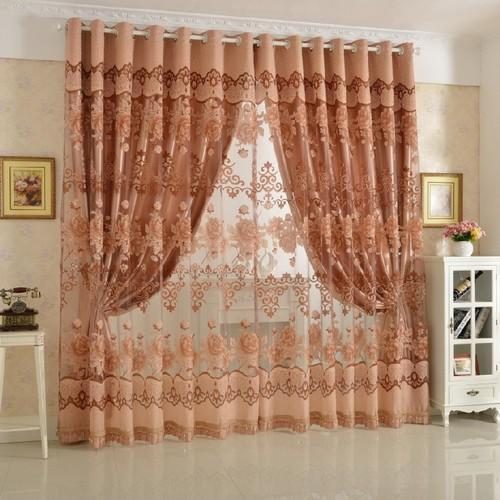 Printed Designer Net Curtain, Size: 4x7 Feet, Rs 400