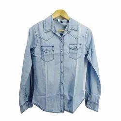 Ladies Full Sleeve Denim Shirt