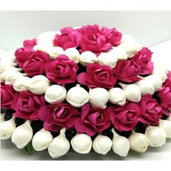 Artificial Flower Hair Bun