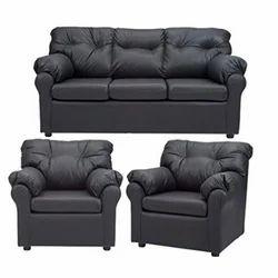 Black Wood Sofa Set