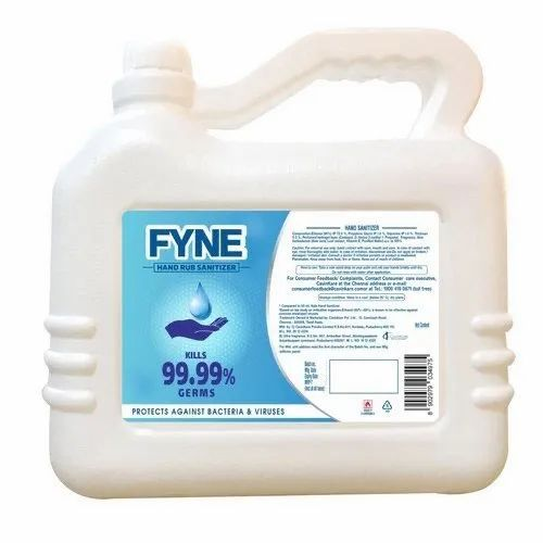 5 Liters Fyne Alcohol Based Hand Sanitizer Jar - CavinKare