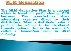 MLM Generation Plan Software
