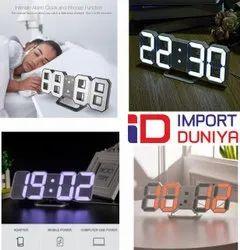 3d digital led wall clock