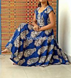 vedhaethnics Kalamkari Cotton Maxi Frock Dress