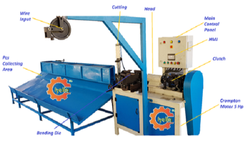 Semi Auto - Chain Link Fence Making Machine