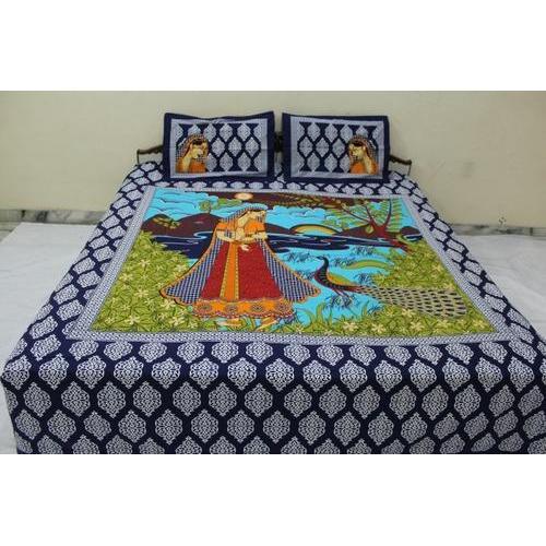 8642e433f71 Pure Cotton Multicolor Rajasthani Print Cotton Bed Sheets