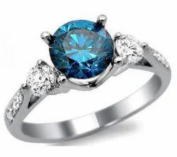 Real Blue Diamonds Ring Second Hand Diamond Rings Used Diamond Rings ह र क अ ग ठ Sheetal Impex Surat Id 14809840933